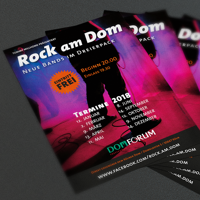Flyer Rock am Dom